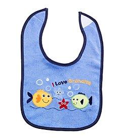 Cuddle Bear® Baby Boys' I Love Grandma Bib