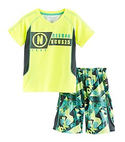 Reebok® Boys' 2T-4T 2-Piece No Excuses Printed Tee And Shorts Set