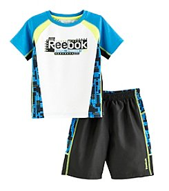 Reebok® Boys' 2T-4T 2-Piece Faster Printed Tee And Shorts Set