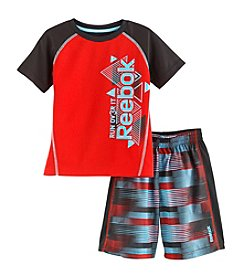 Reebok® Boys' 2T-4T 2-Piece Over It Printed Tee And Shorts Set