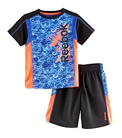 Reebok® Boys' 2T-4T 2-Piece Ripple Logo Printed Tee And Shorts Set