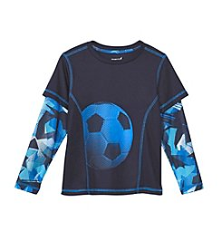 Exertek® Boys' 4-7 Long Sleeve Layered Soccer Graphic Tee