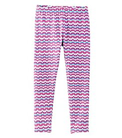 Mix & Match Girls' 2T-6X Wavy Striped Leggings