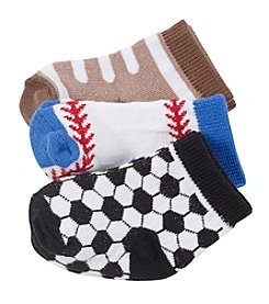 Cuddle Bear® Baby Boys 3-Pack Sports Socks