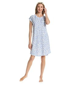 Miss Elaine® Short Sleeve Nightgown