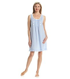 Miss Elaine® Woven Sleeveless Nightgown