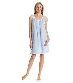 Miss Elaine® Woven Sleeveless Nightgown