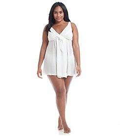 Flora Nikrooz Plus Size Heather Chiffon High-Low Chemise