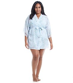 Flora Nikrooz Plus Size Heather Chiffon Wrap Robe