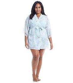 Flora Nikrooz Plus Size Heather Chiffon Wrap Robe