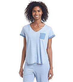 KN Karen Neuburger Chambray Pajama Shirt