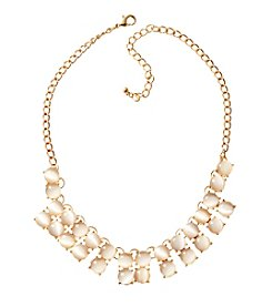 Relativity® Ivory And Goldtone Collar Necklace