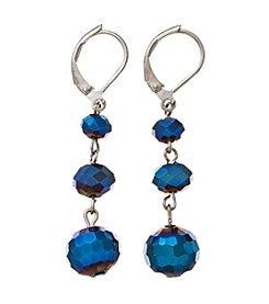 BT-Jeweled Metallic And Palladium Trio Beads Earrings