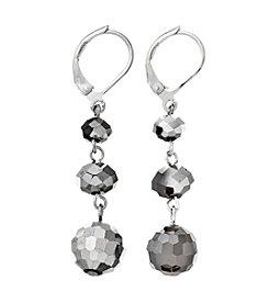 BT-Jeweled Metallic Trio Beads Earrings