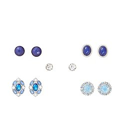 Studio Works® Set Of Five Blue Earrings