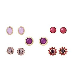 Studio Works® Set Of Five Goldtone Earrings
