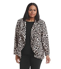 Calvin Klein Plus Size Long Animal Print Jacket
