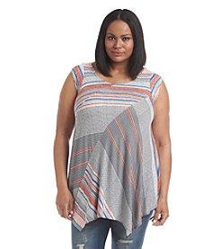 Chelsea & Theodore® Plus Size Multi Stripe Print Tunic