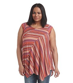 Chelsea & Theodore® Plus Size Printed Pieced Tunic