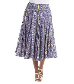Chelsea & Theodore® Plus Size Printed Broomstick Skirt