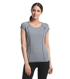 Calvin Klein Performance Open Back Stripe Tee