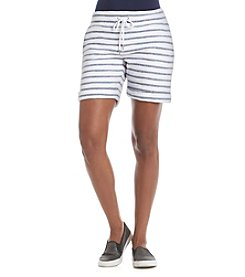 Calvin Klein Performance Cuffed Boucle Stripe Shorts