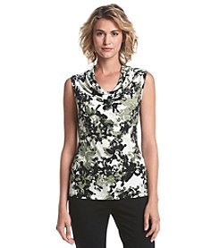 Marc New York Abstract Floral Cowl Neck Cami