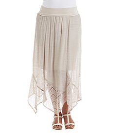 AGB® Plus Size Gauze Solid Skirt