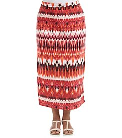 AGB® Plus Size Printed Skirt