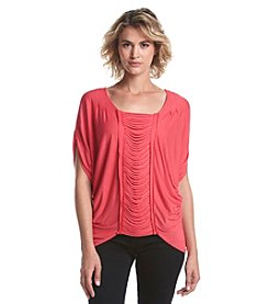 Nine West Jeans® Pleated Front Top