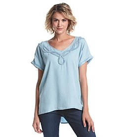 Nine West Jeans® Braided Collar Detail Top