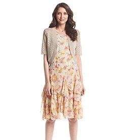 Lennie Jewelneck Chiffon Jacket Dress