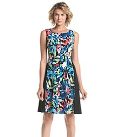 Connected® Floral Patterned Fit And Flare Dress
