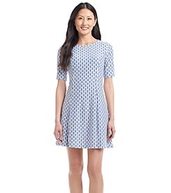 Jessica Howard® Petites' Geo Patterned Fit And Flare Dress