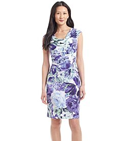 Connected® Petites' Dropneck Floral Sheath Dress