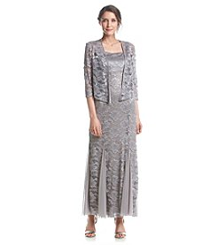 R&M Richards® Lace Jacket Dress
