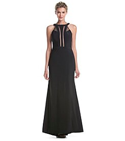 NW Collections Power Mesh Gown Dress