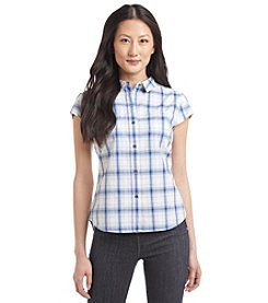 Ruff Hewn Petites' Plaid Button Down Top
