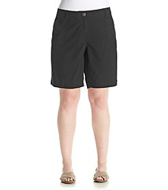 Studio Works® Plus Size Poplin Shorts