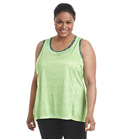 Exertek® Plus Size Trapeze Printed Tank Top