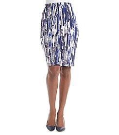 Relativity® Printed Scuba Skirt