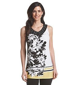 Laura Ashley® Petites' Embellished Floral Tank