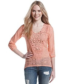 Eyeshadow® Crochet Lace Top