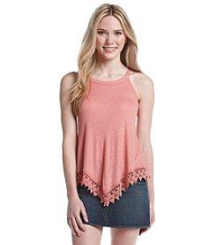 Pink Rose® Crochet Hem Tank