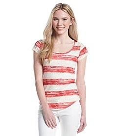 w.f. Paintbrush Stripe Top