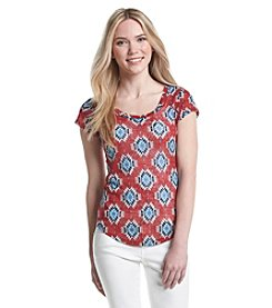 w.f. Medallion Print Top