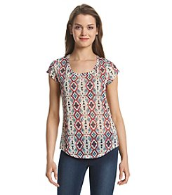 w.f. Birch Medallion Top