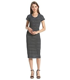 no comment™ Striped Ribbed Midi Dress