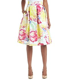Eliza J® Watercolor Floral Midi Skirt