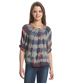 Hippie Laundry Tie Dye Crinkle Pleasant Top